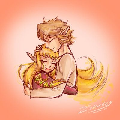 The Legend of Zelda: Skyward Sword, Link and Zelda / Skyward Sword: not giving up on love by Zelbunnii on deviantART