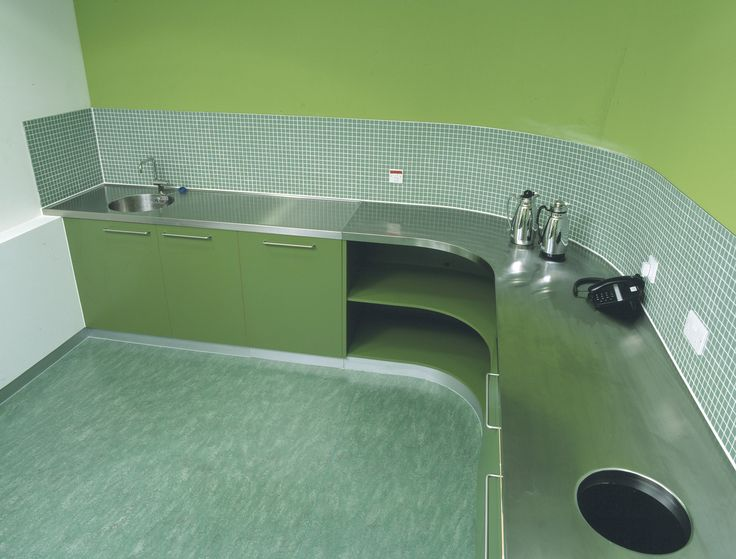 Curved! stainless steel worktop by GEC Anderson