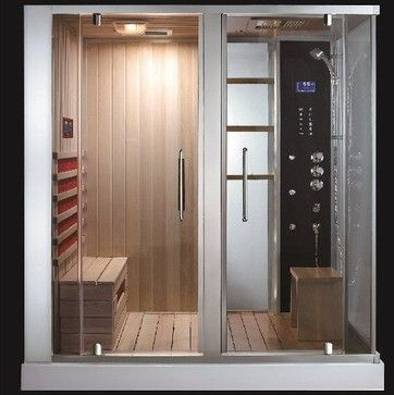 AquapeuticsSouthwood Steam Shower Sauna Combo - modern - showers - Aquapeutics  Need to save my money, would love this.