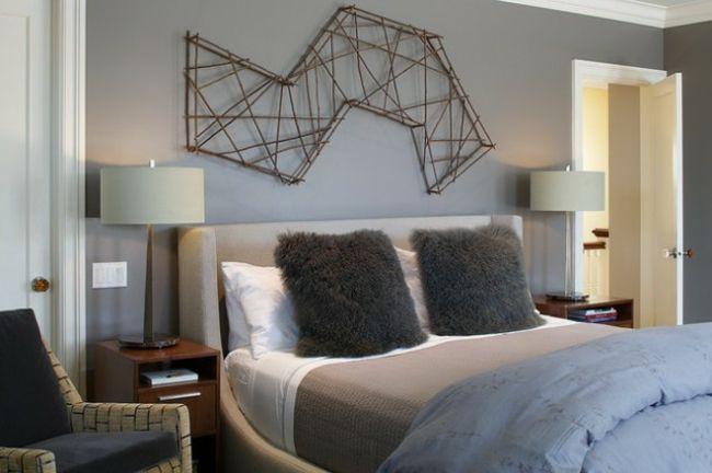 Murs et ameublement chambre tout en gris tendance | Blue, Bees and ...