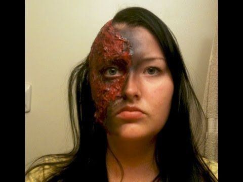 Burn Victim Makeup Speed Tutorial Youtube Halloween