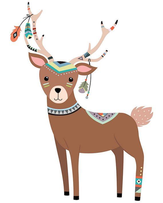 Deer Art Print Deer Nursery Decor Deer Art Deer Nursery