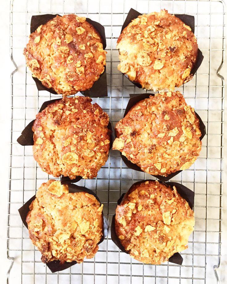 Muffins marmoleados con dulce de leche y crunch de Zucaritas