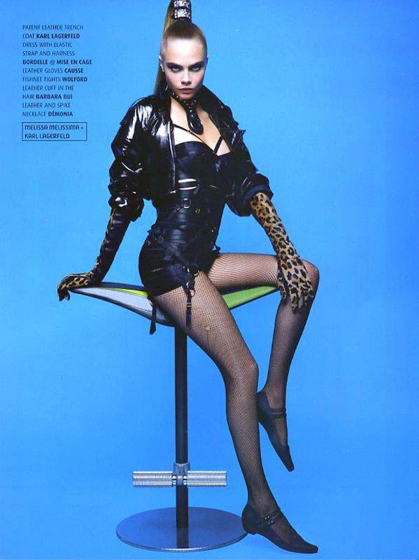 """Plastic Dreams"" | Model: Cara Delevingne, Photographer: Karl Lagerfeld, Melissa Magazine, Winter 2013"