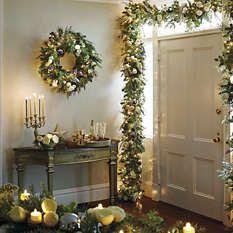 Pre-lit Greenery - Pre-lit Garland - Pre-lit Wreaths - Pre-lit Christmas Wreaths - Pre-lit Christmas Garlands - Pre-lit Christmas Wreath - Frontgate