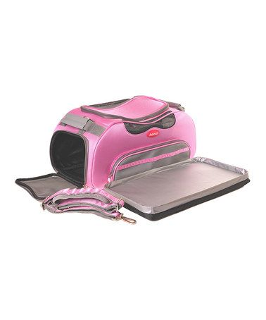 Another great find on #zulily! Pink Aero-Pet Airline-Approved Pet Carrier #zulilyfinds