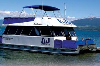 One of #Turangi's favorites as rated by TripAdvisor! - #AJCharters welcomes you aboard its 38' two storey catamaran, 'DAYDREAM', to explore the trout fishing capital of the world on the southern end of Lake #Taupo , #NewZealand . #Fish the shores of #Turangi, Tokaanu, Waihi, Pukawa, Omori, Kuratau and the renowned Stump Bay where the #Tongariro River enters the lake. What's your favourite like activity? http://www.greatlaketaupo.com/new-zealand/product/?product=aj-charters