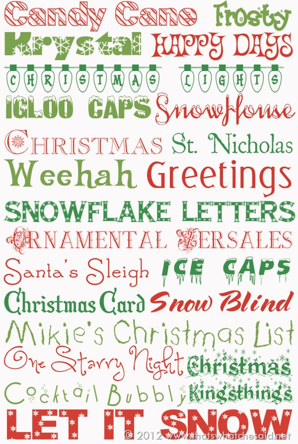 22 Free Holiday Fonts  ~~ {w/ easy download links}  -- ((@ thatswhatchesaid))