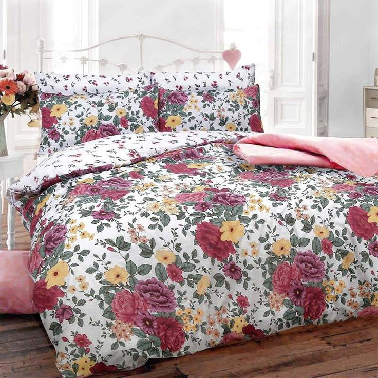 Pieridae Vintage Floral Single Duvet Cover Bedding Set £12.99 Free UK Delivery