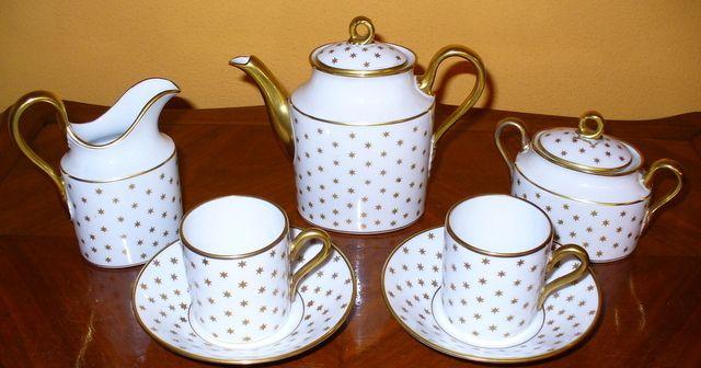 """Gio Ponti for Richard Ginori-Doccia. Tea for two.1940. Signed """"Pittoria di Doccia"""". Info:design1958@gmail.com"""