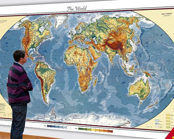 The 25 best big world map ideas on pinterest big world map huge map of the world 6xft x 10ft map large sciox Images