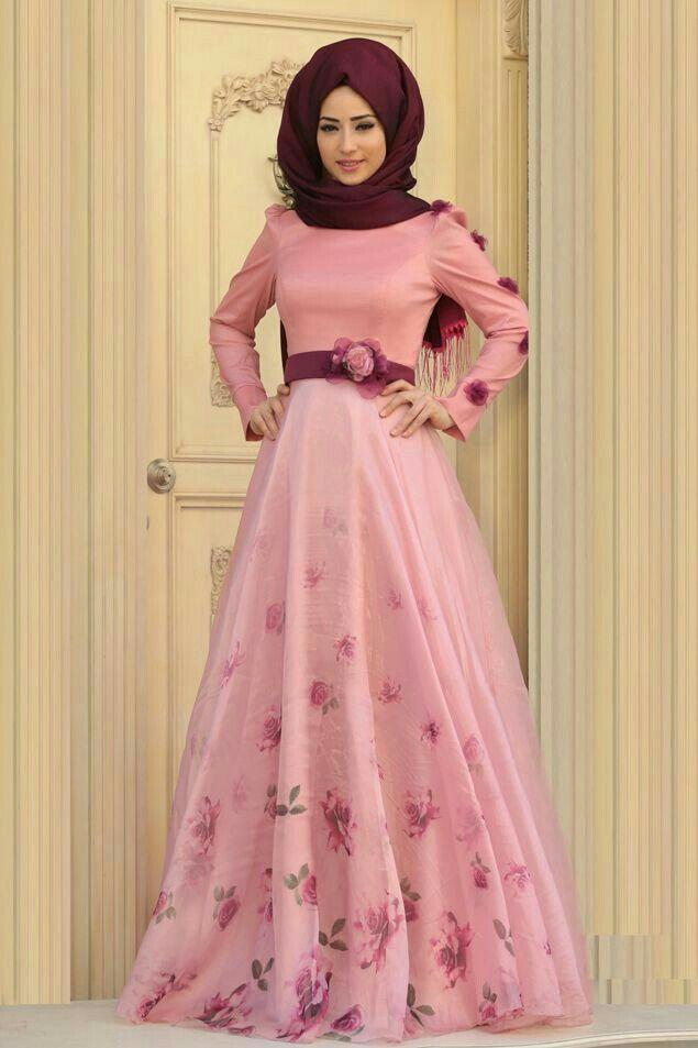 Mejores 161 imágenes de hijab gowns en Pinterest | Conjunto de hijab ...