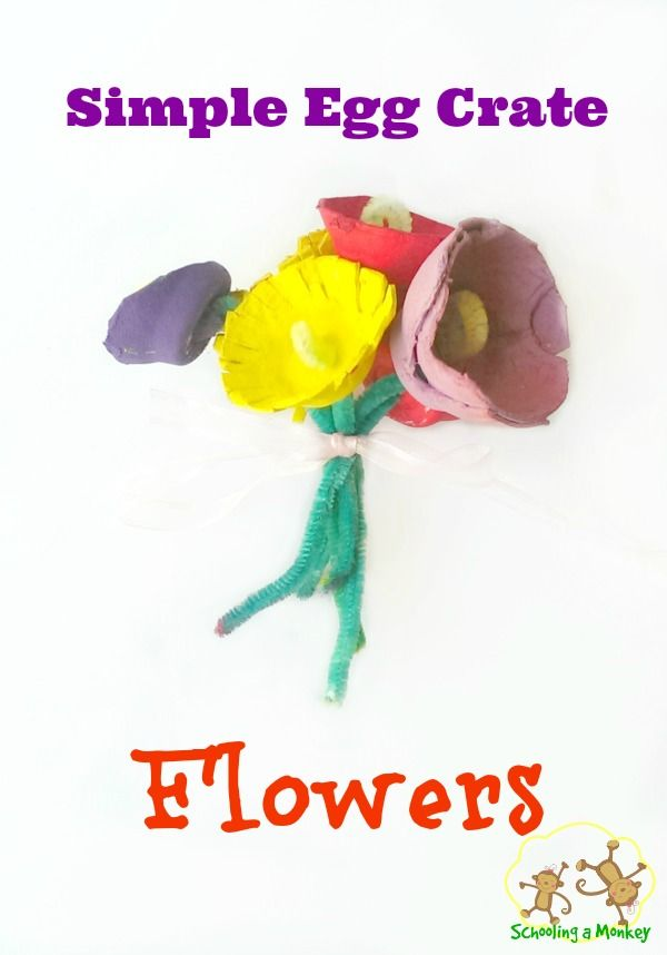 Have egg crates on hand? Make this fun spring flower craft that kids of all ages will love!