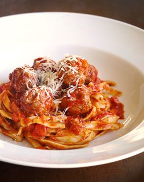 Pork meatballs in rich tomato sauce - Julie Goodwin Recipe