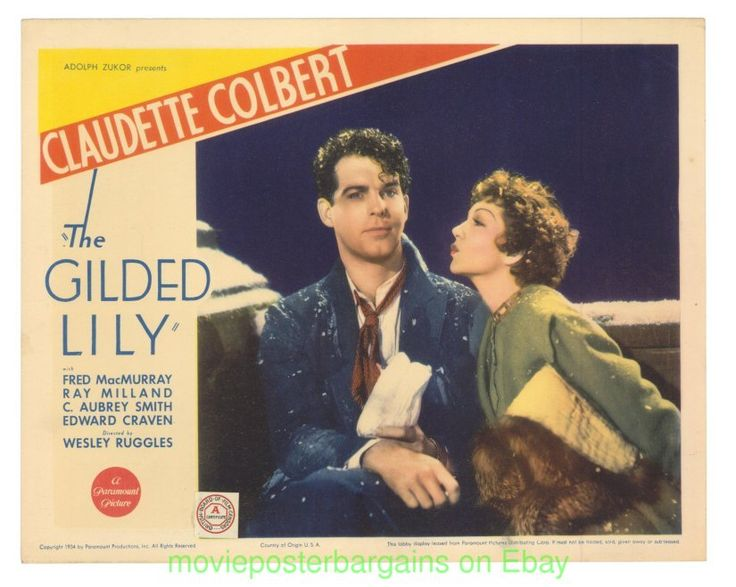 the gilded lily movie poster | Details about THE GILDED LILY LOBBY CARD size 11x14 Inch MOVIE POSTER ...