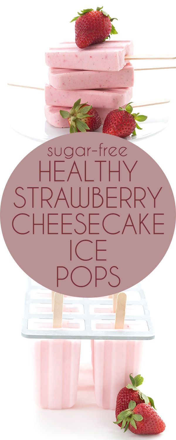 Healthy, easy, and delicious! These low carb strawberry cheesecake pops are the perfect keto treat on a warm day. LCHF Banting THM recipe.  via @dreamaboutfood