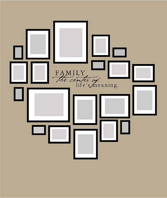 Picture framing layout. love it.