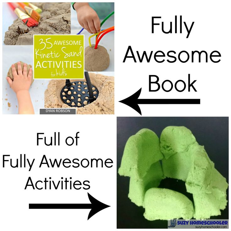 Inspirational Kinetic sand book review by Suzy Homeschooler