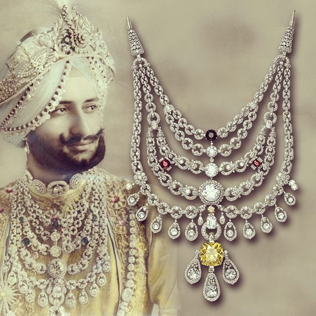 DID YOU KNOW: The #Patiala #Necklace the #largest single commission #Cartier ever executed symbolized the #Maharajas# wealth and #power and is a #metaphor to the  #lifestyle he led. The $25 #million necklace disappeared #mysteriously from the #royal #treasury of Patiala in April 1948 and remains missing until this day! #india #الماس #مجوهرات  #الذهب #زبرجد  #diamants #bijoux #luxe