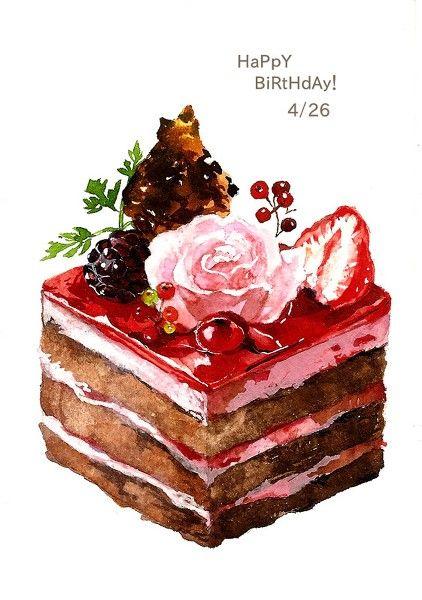 美食 甜品 蛋糕 手绘 插画