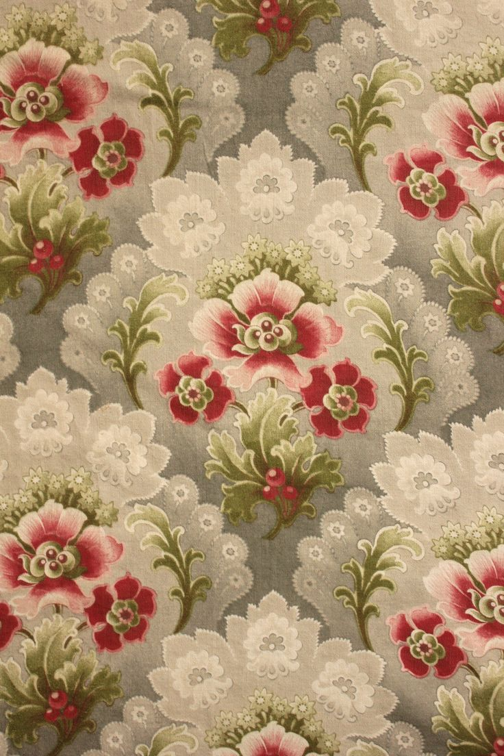 Vintage French Curtain Fabric
