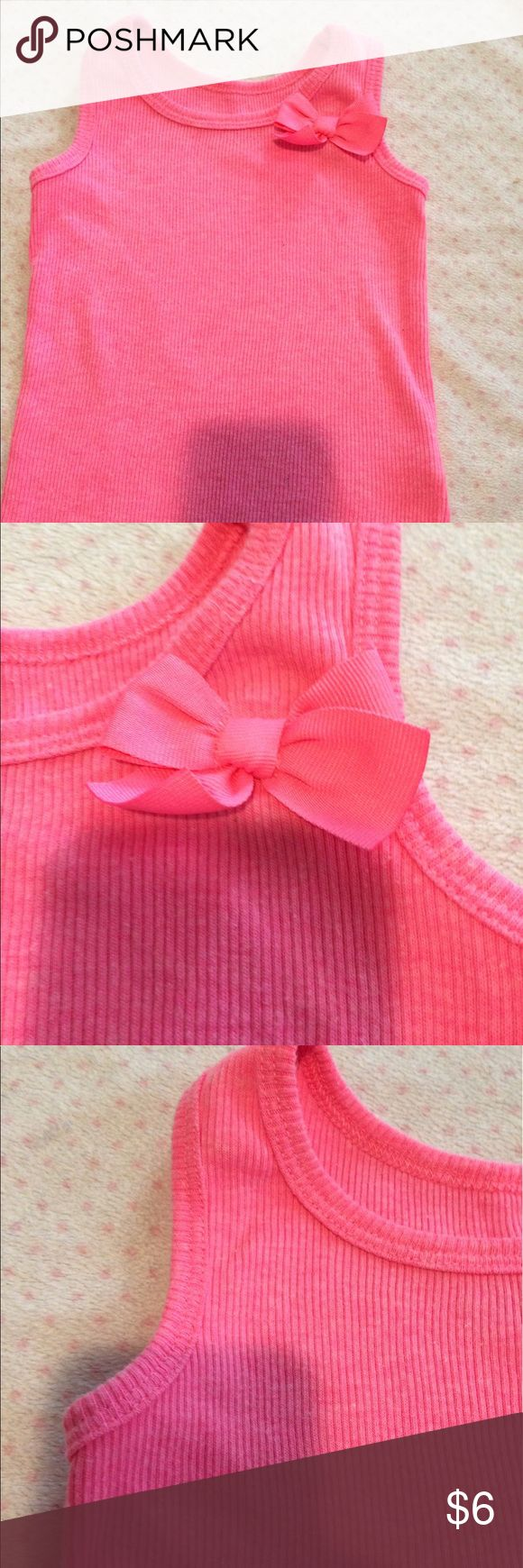 Pink tank top Pink tank top with bow on the side. Worn once in great condition. Carter's Shirts & Tops Tank Tops