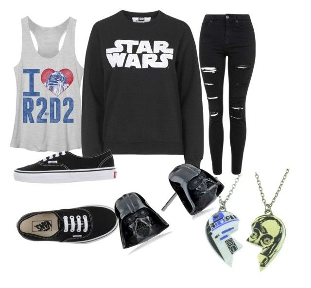 """""""star wars"""" by kobie-rainbolt on Polyvore featuring Tee and Cake, Topshop, Vans and R2"""