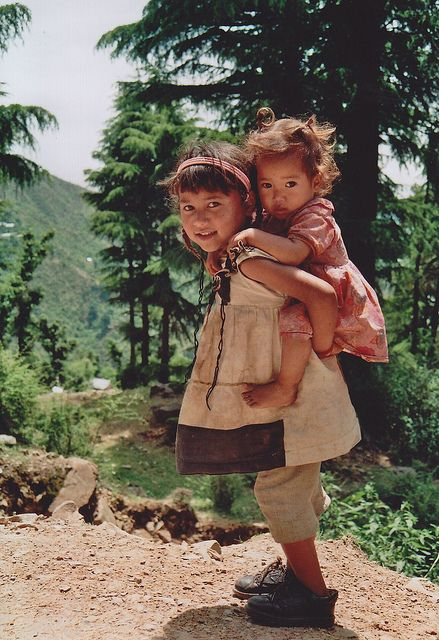 by Monica Forss on Flickr.  Children of the Himalayas, young girls from Dharamsala, India.