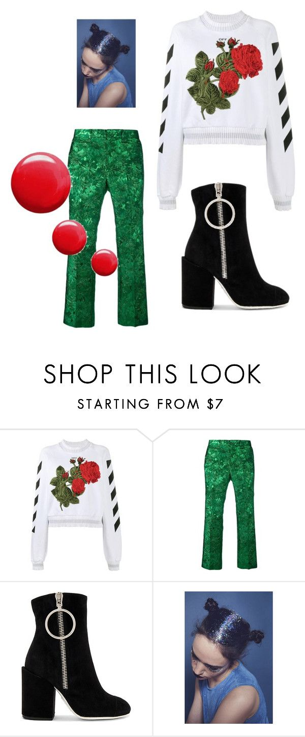 """""""Untitled #25"""" by dxrcx on Polyvore featuring Off-White, Gucci, Topshop and gucci"""