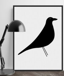 Canvas poster Black Bird
