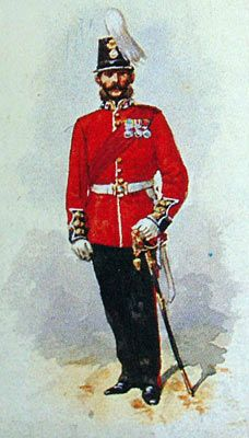 Officer The Royal Welsh Fusiliers c1860s