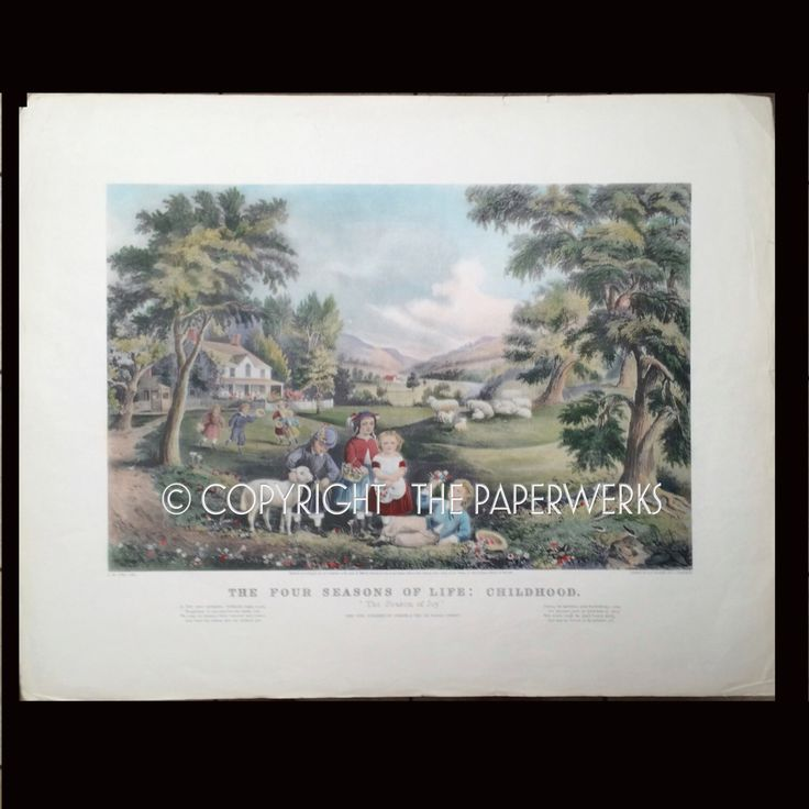 A personal favorite from my Etsy shop https://www.etsy.com/listing/227341334/currier-ives-large-lithograph-print