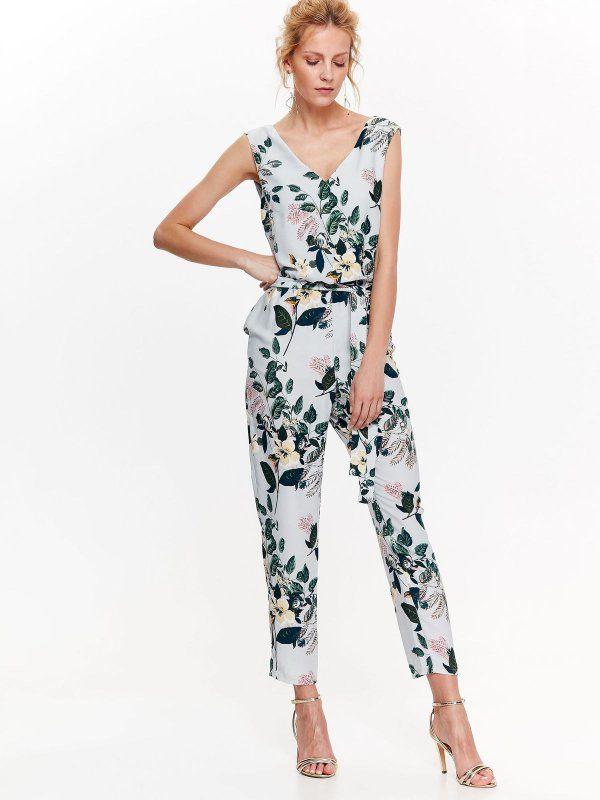 W2018 Kombinezon Damski Szary Skb2736 Top Secret Fashion Jumpsuit Dresses