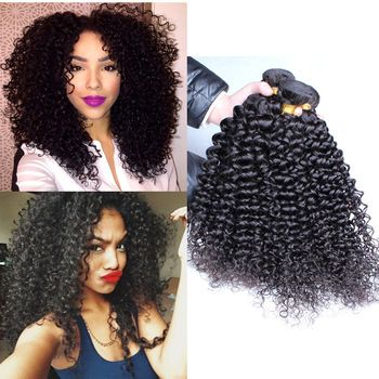 100 unprocessed mongolian kinky curly hair extensions