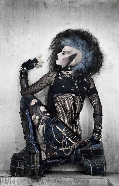 Black and blue mohawk #deathrock #punk