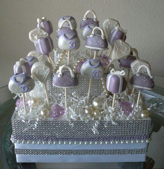 LAVENDER Rhinestone Cake Pop Display Stand di TheMaDCakePopShop