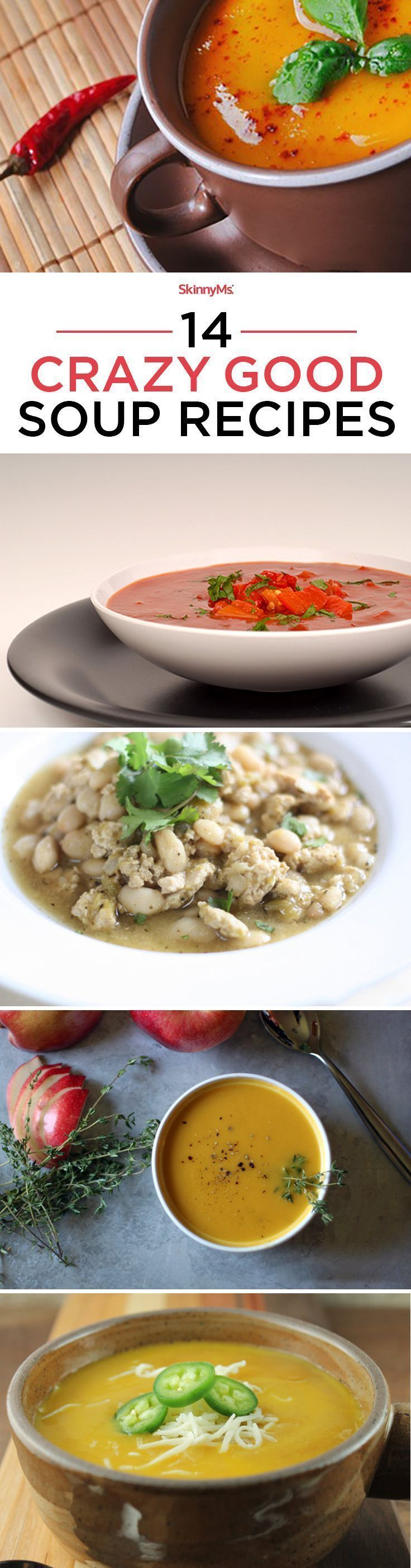 Try these 14 Crazy Good Soup Recipes! Just in time for Fall. #skinnyms #fall #soup