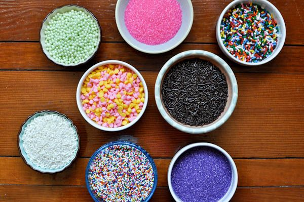 Sprinkles for toppings bar! #cupcakes