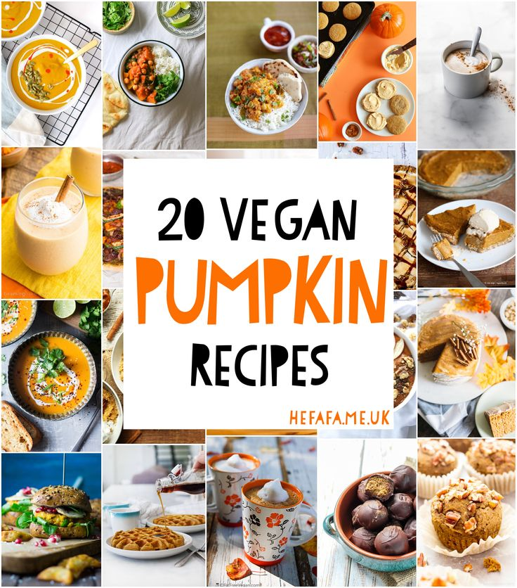 who could've known there were so many ways to use pumpkin in vegan recipes...