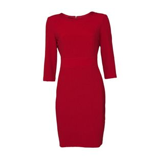 Gerry Weber Red Ribbed Dress