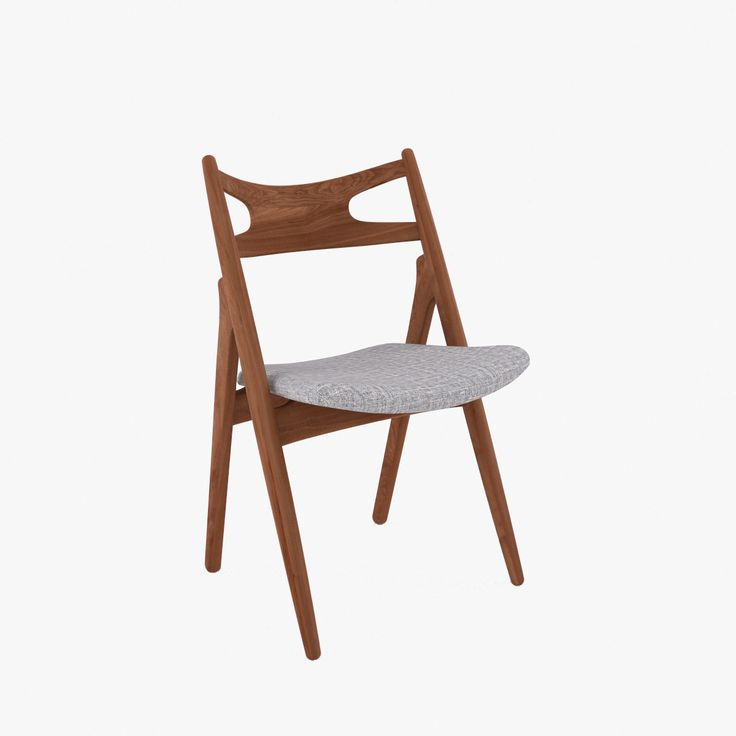 ch29 sawbuck chair 3d model