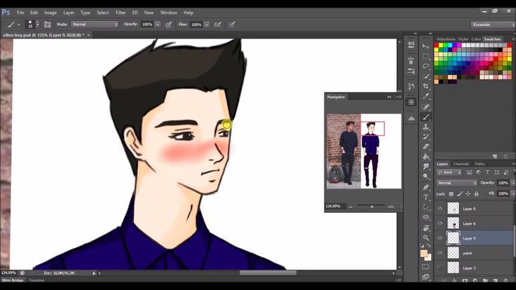 Desenho Digital - MESA DIGITALIZADORA OneByWacom [photoshop] #speedart #wacom #drawing #onebywacom #animeboy #anime #digitalart #digitalpaint
