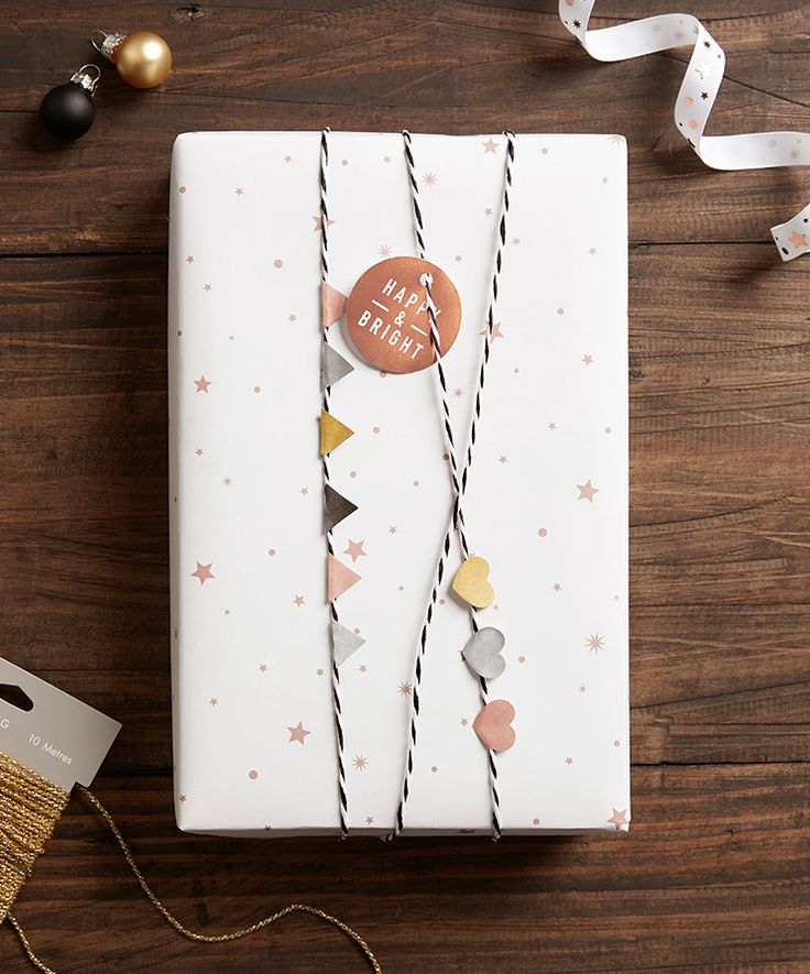 Trust Kikki.K to come up with some beautiful gift wrapping ideas like this festive bunting look. See the other 49 of our favourite Christmas gift wrapping ideas by clicking the image above ^