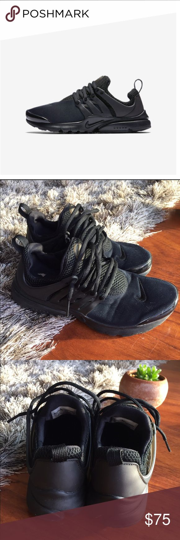 Nike Presto black on black - big kids size 5.5 Nike Presto black on black - big kids size 5Y (i wear 6.5 in women's) - no trades GREAT CONDITION Nike Shoes Sneakers