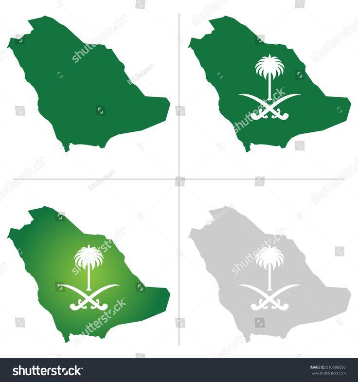 Saudi Arabia Map And National Logo Ad Sponsored Arabia Saudi Map Logo Map Logo National Day Saudi Map