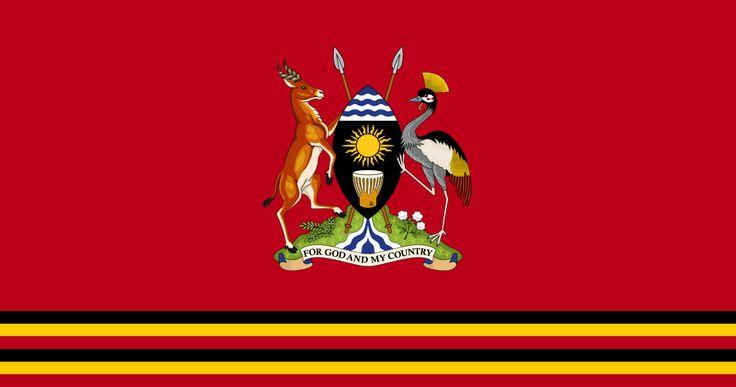 Bandeira presidencial de Uganda. Presidential Standard of Uganda.
