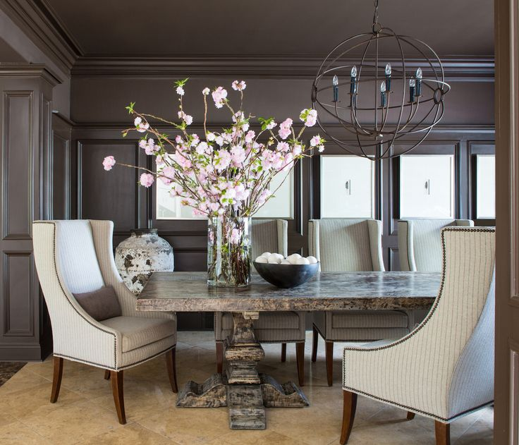 25 best ideas about dark dining rooms on pinterest diy - Dining table against the wall ...