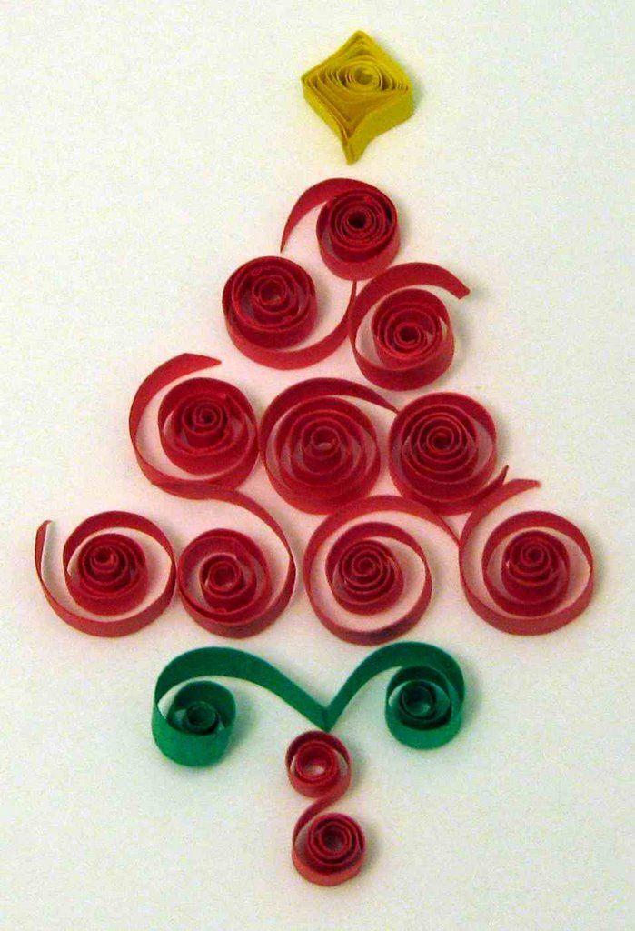 Free pattern quilling quilled christmas tree quilling for Quilling patterns for beginners