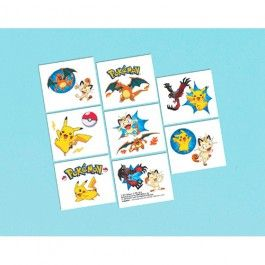 Pokemon Party Supplies, Pokemon Tattoo Sheets, Party Favors