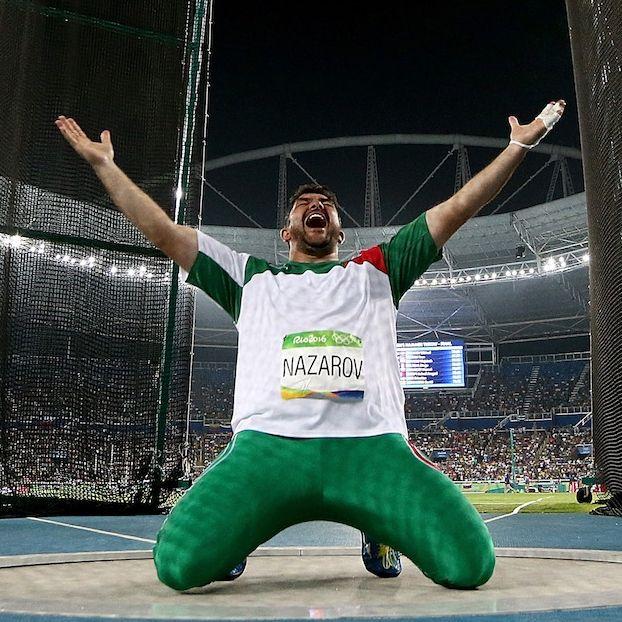 Dilshod Nazarov del Tajikistan, vincitore dell'oro nel lancio del martello #Rio2016